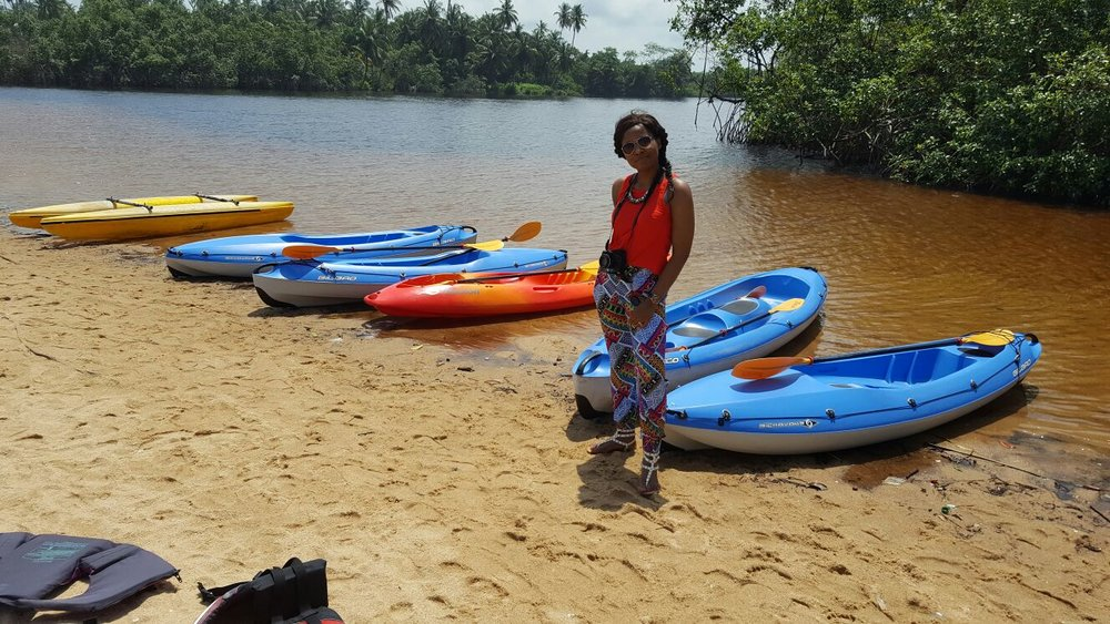 kayaking in inagbe resort