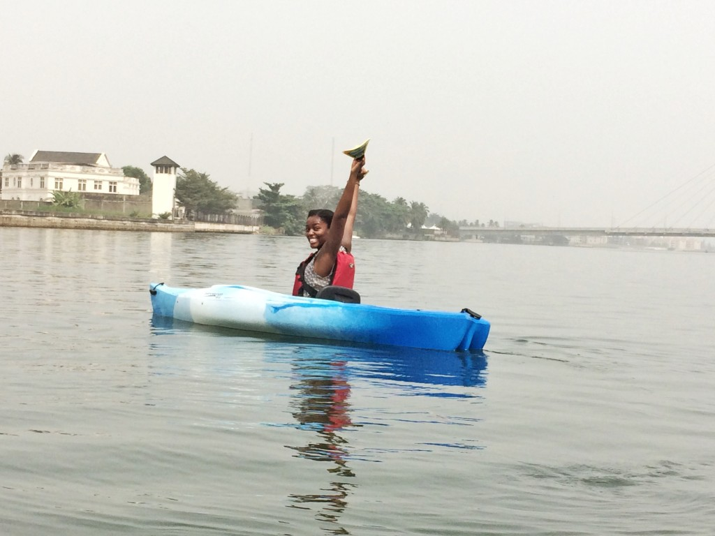 lady in a kayak