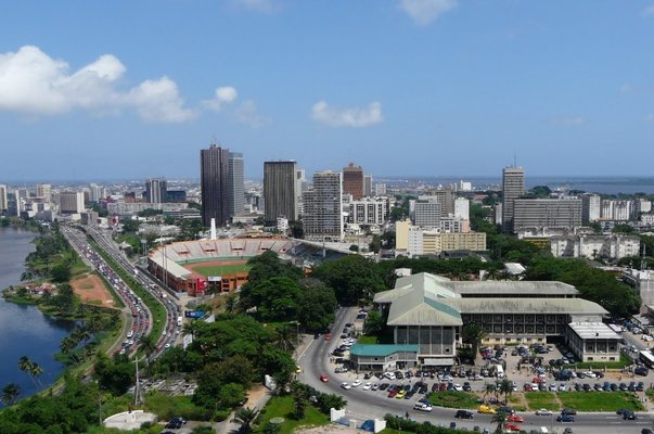 aerial view ivory coast
