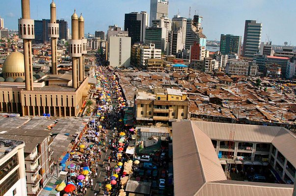 aerial view of lagos city