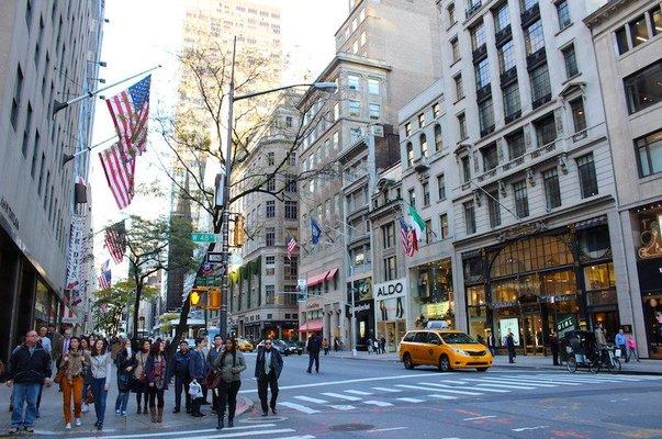 people walking on 5th avenue