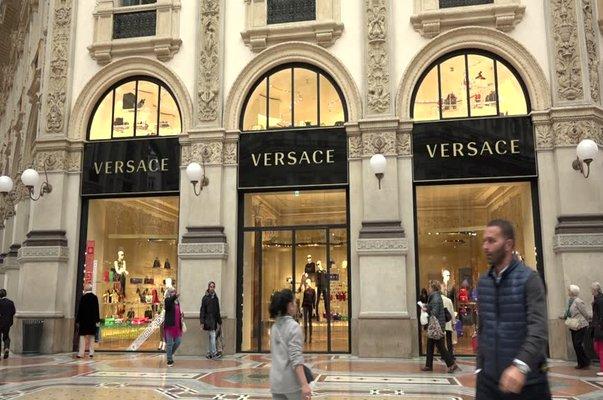 Versace shop in milan