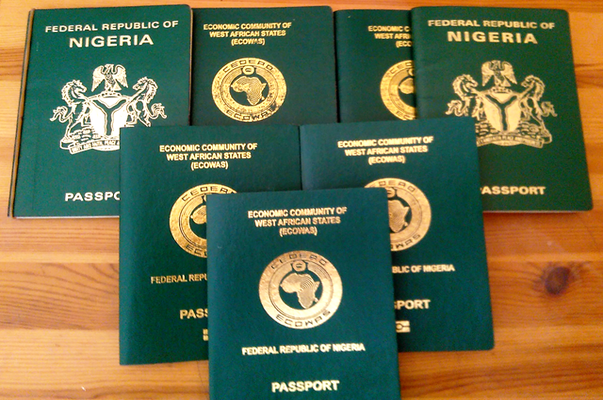 display of nigerian passport