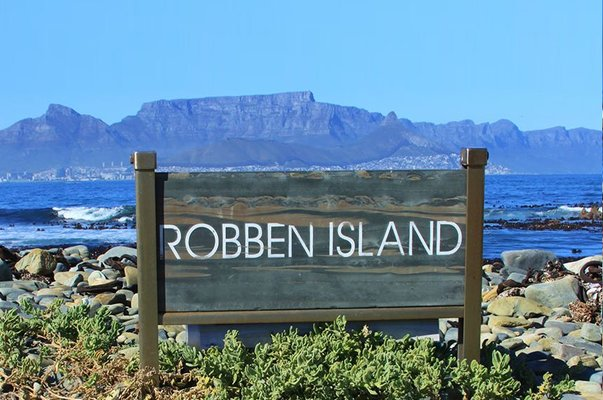 robben island sign post