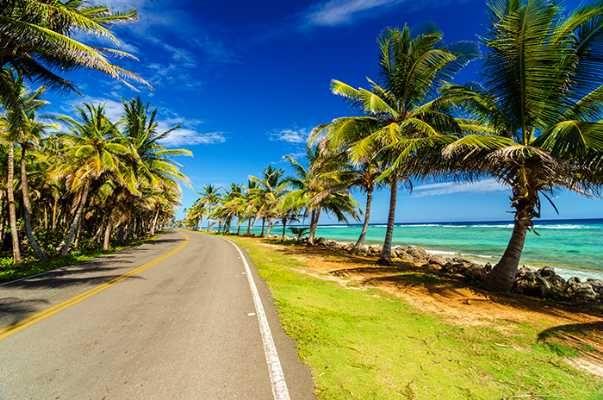 Coastal road in Ivory coast