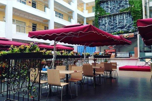 Outdoors restaurant of blucabana
