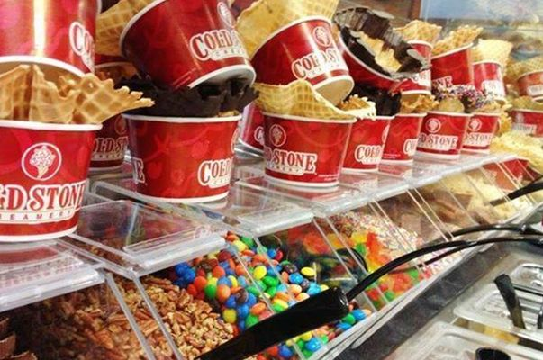 dis[play of coldstone's flavours
