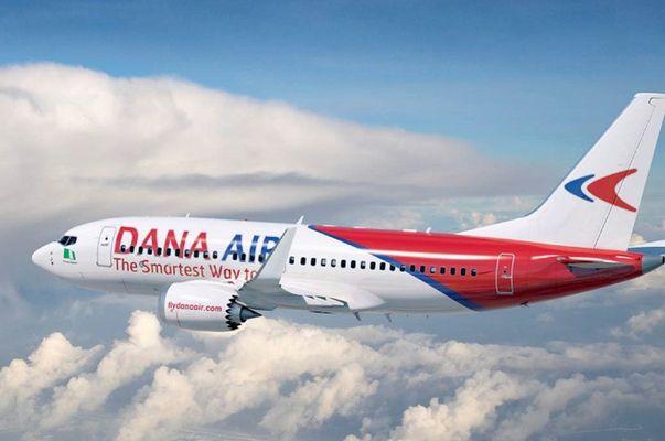 Dana airplane in the sky