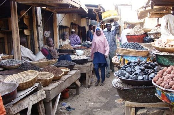 Locals selling in Kurmi market