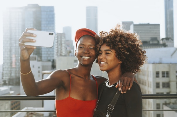 black girl taking pictures
