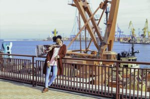 black girl on the harbour