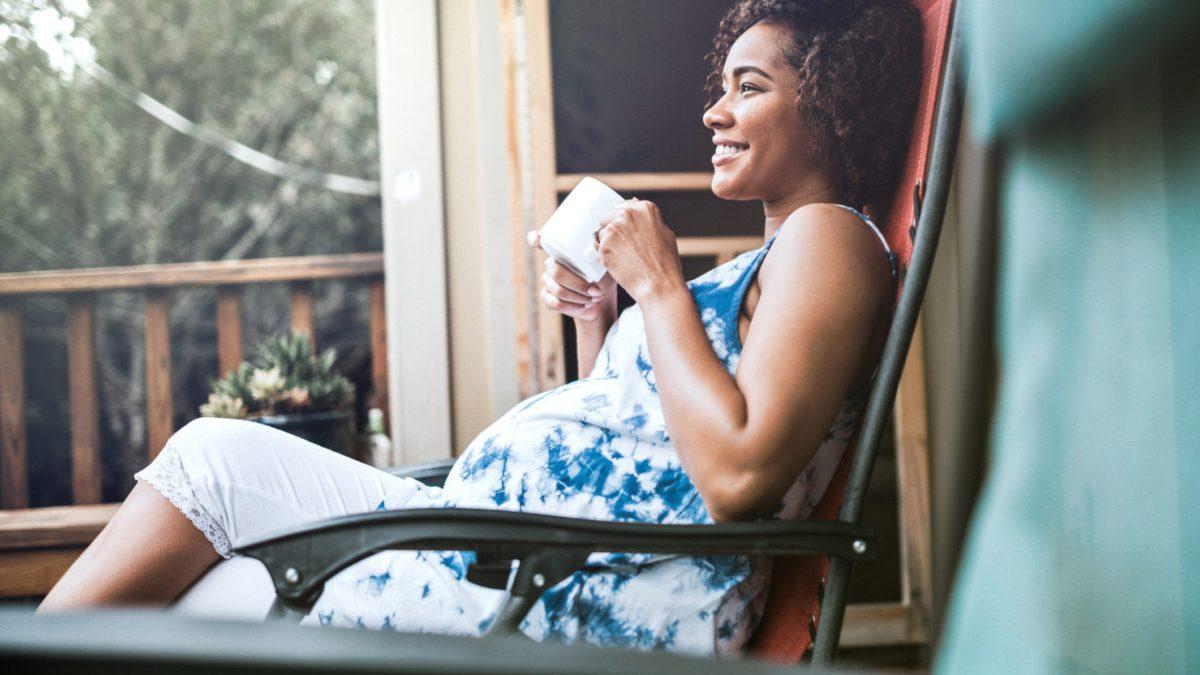 Pregnant black woman