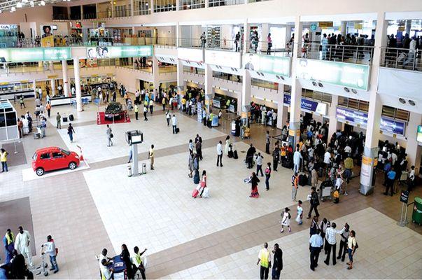 inside a Nigerian airport