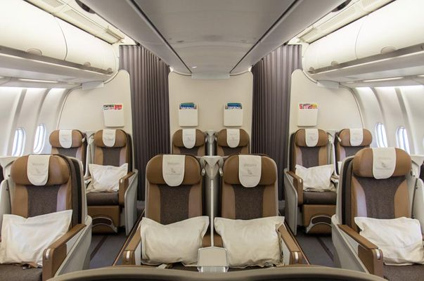 business class on a plane
