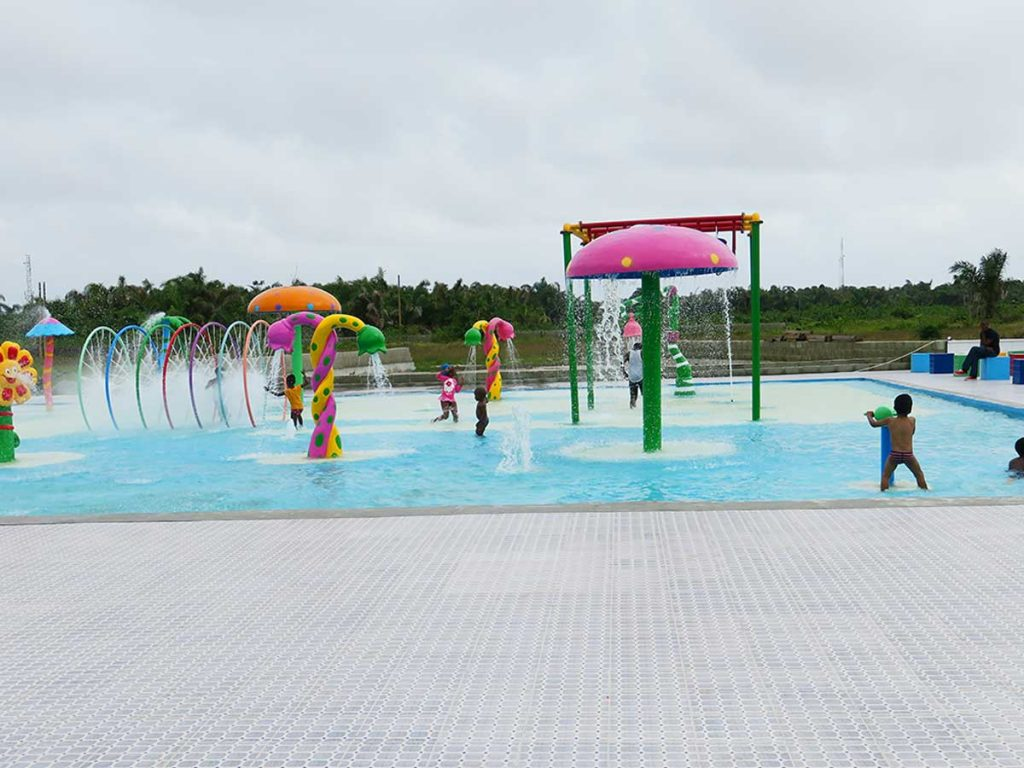 One of the water parks in lagos - Omu resort
